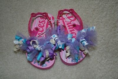 71ccc36722b2 NEW Flip flops girl toddler baby girly boutique flip flop size toddler 5 6