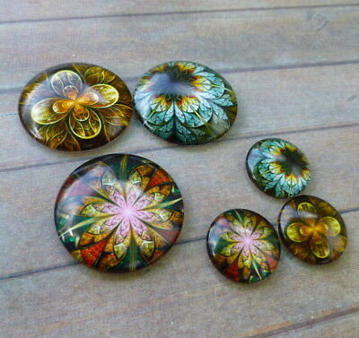 Glass Round Cabochons Mystical Mix 18mm or 30mm