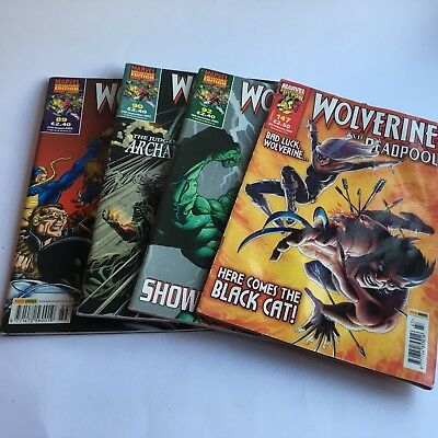 4 x Wolverine and Gambit/Deadpool Collectors' Editions 2003/8 Panini Comics