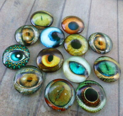 Glass Round Cabochons Animal Eyes Mix of cabochons