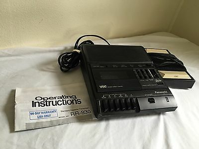 Panasonic RR-830 & RP 2692 Cassette Recorder Transcriber with Pedal
