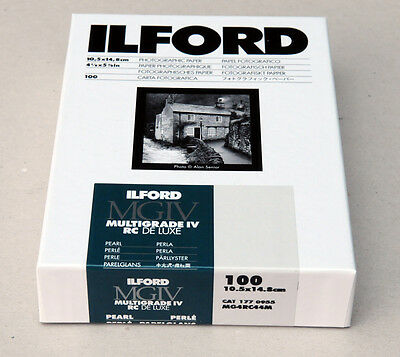 Ilford Multigrade IVRC De Luxe Pearl Black & White 10.5cm x 14.8cm 100 sheets