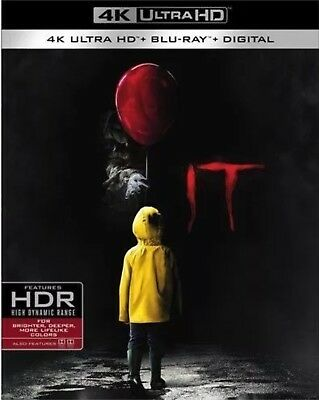 It 4K Ultra Hd(4K Ultra Ultra Hd+Blu-Ray+Digital Hd)W/Slipcover New