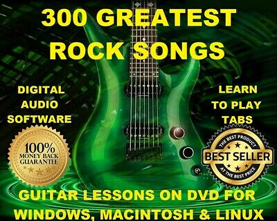 300 Greatest Rock Songs Guitar Tabs Software Lesson CD & 300 Backing Tracks