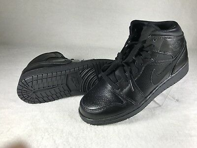 huge selection of 07e37 0ba78 Air Jordan 1 Mid BG 554725-030 Black Black-Black Boy s Youth Nike
