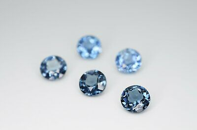 7mm Round Cut Natural London Blue Topaz Calibrated A+ Loose Faceted Gemstone