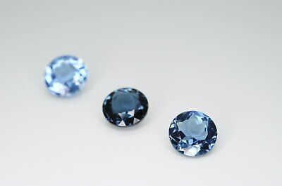 8mm Round Cut Natural London Blue Topaz Calibrated A+ Loose Faceted Gemstone