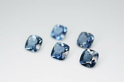 7mm Cushion Cut Natural London Blue Topaz Calibrated A+ Loose Faceted Gemstone