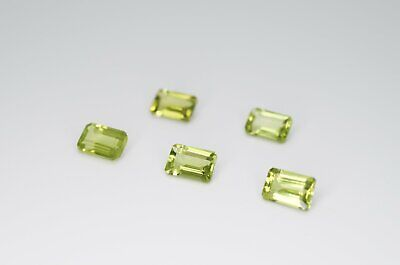 6 x 4mm Octagon Cut Natural Peridot Calibrated A+ Loose Faceted Gemstone