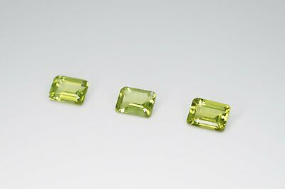 7 x 5mm Octagon Cut Natural Peridot Calibrated A+ Loose Faceted Gemstone