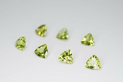 6mm Trilliant Cut Natural Peridot Calibrated A+ Loose Faceted Gemstone