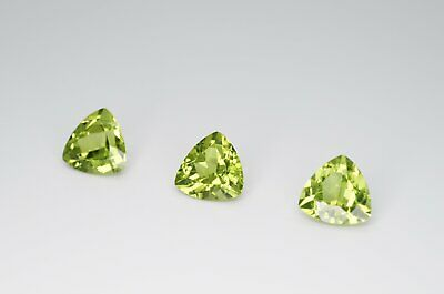 8mm Trilliant Cut Natural Peridot Calibrated A+ Loose Faceted Gemstone