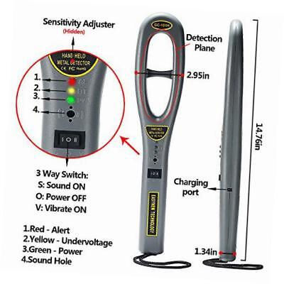 hand held metal detectors, portable light-weight security scanner wand with