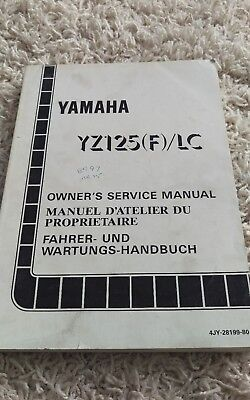 1994 Yamaha YZ125 (F)/LC YZ 125 Owner's Shop Service Repair Manual OEM