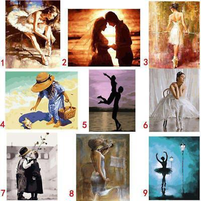 Ballet Dancer Oil Painting Tie The Shoelace DIY Painted By Numbers Home Decors