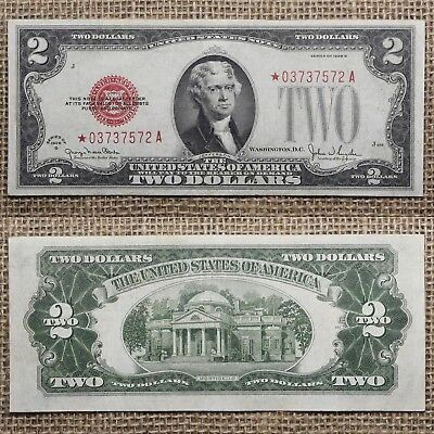Rare FR-1508* 1928-G $2 US Note STAR