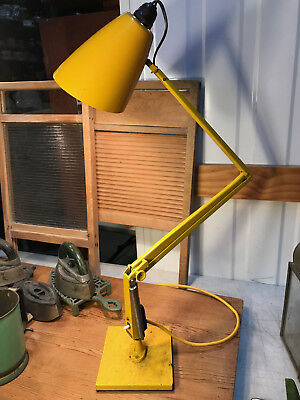 Retro Vintage 1960s Iconic Industrial Australian Yellow Planet Table Lamp