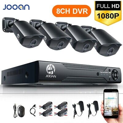 JOOAN Security Camera System Outdoor 8CH 1080 HDMI DVR IR Night Vision CCTV Home