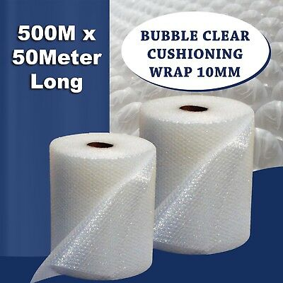 Bubble Clear Cushioning Wrap 500MM x 50M Clear Premium Grade Sydney Metro ONLY