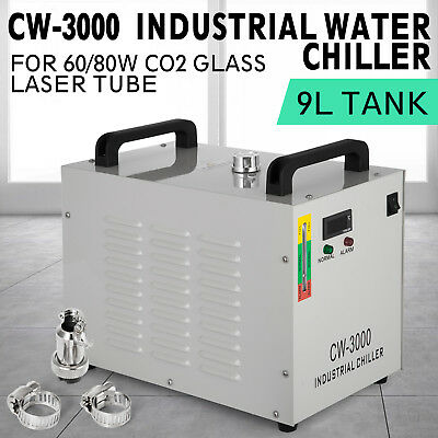 CW-3000 Industrial Water Chiller for CO2 Laser Plasma Engraver Cooling 60/80W