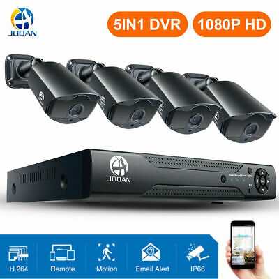 JOOAN 5in1 8CH DVR 1080P Outdoor CCTV Home Security Camera System Night Vision
