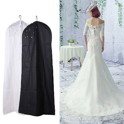 Large Dustproof Breathable Cover Storage Bag For Wedding Dress Bridal Gown US