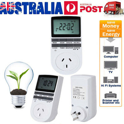 Digital Timer Switch 240V Automation Electric Programmable Powerpoint AU Ship