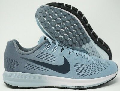 5739968a030 Womens Nike Air Zoom Structure 21 Running Shoes Armory Blue 904701-400 Size  9.5