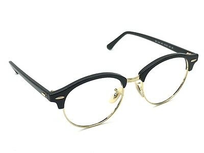 9f9e50ee04e RAY-BAN RB 4246 901 Clubround Black   Gold Sunglasses Frame Only 51 ...