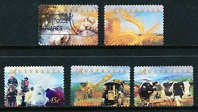 Australian 1998 Farming Australia, set of 5 S/A stamps, used