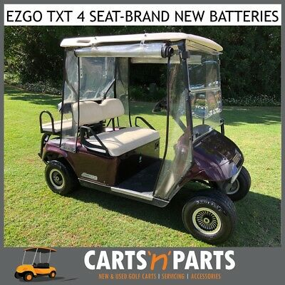 EZGO 4 Seat Golf Cart Buggy Brand New Batteries Caddy Seat Space Saver Plum 2005