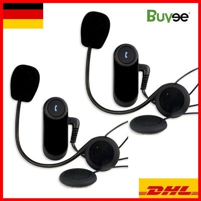 2x Motorrad Bluetooth Gegensprechanlage 800m Sprechanlage Helm Intercom Headset