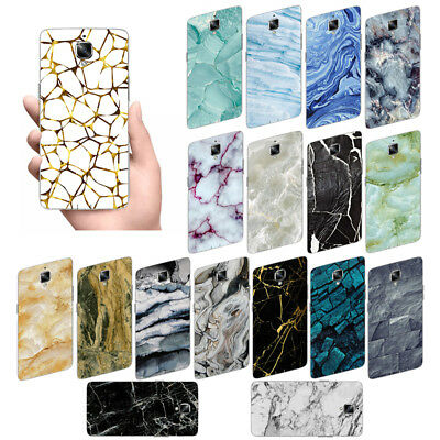 Shockproof Marble Soft TPU Silicone Back Case Cover Fit OnePlus 2 3 3T 5 5T