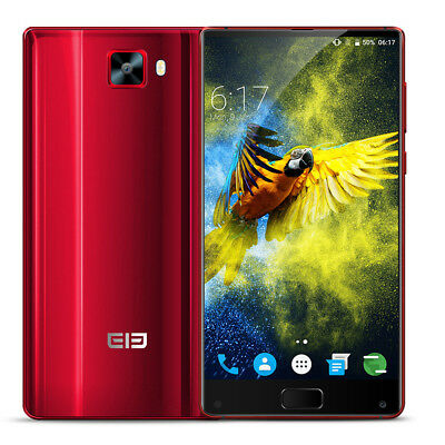 "6""Elephone S8 4G Smartphone Android 7.1 4GB+64 GB Dual SIM 21MP Camera RED"