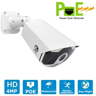 JOOAN 4MP POE Security IP Camera Outdoor ONVIF Surveillance Home Night Vision