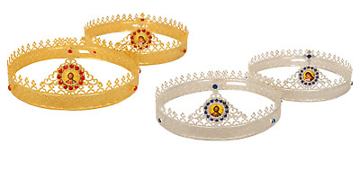 Russian Style Orthodox Byzantine Christian Church Pair Wedding Crowns 2 Models