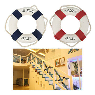 WELCOME ABOARD Nautical Life Ring Lifebuoy Boat Wall Hanging Home ...