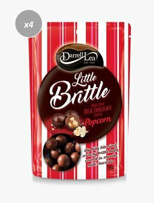 913289 4 x 200g PACKETS OF DARRELL LEA LITTLE BRITTLE MILK CHOC COATED POPCORN