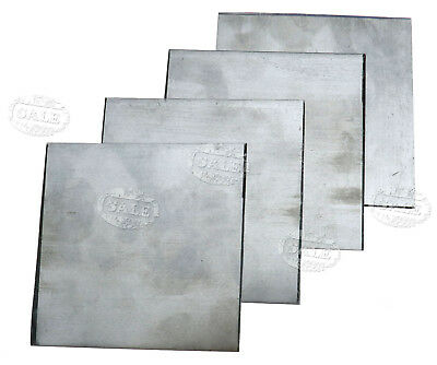 5 Pcs Pure Zinc Zn Plate for Science Lab 100x100x0.2mm High Purity 99.99% MM