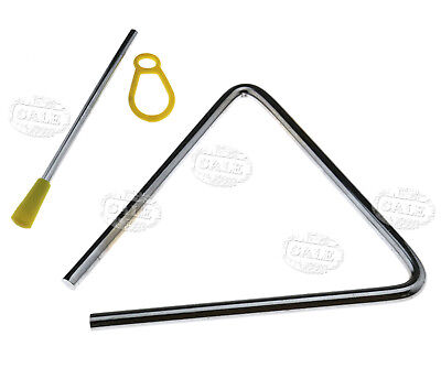 "6"" 15cm Musical Triangle&Beater Percussion Metal Instrument Music School Toy MM"