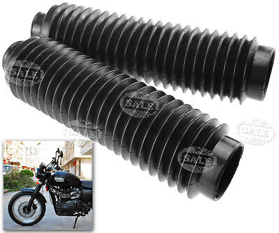 Motorcycle 240MM Rubber Fork Cover Gaiters Gators Boots Black Fork 30MM 2x