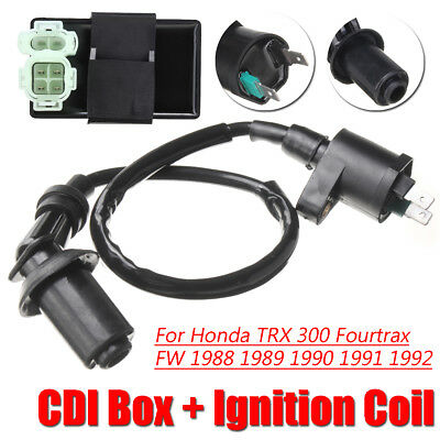 CDI Box+Ignition Coil Fit For Honda TRX 300 Fourtrax FW 1988 1989 1990 1991 1992