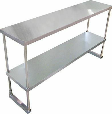 Commercial Kitchen Stainless Steel Double Overshelf For Prep Tables - 1800mm