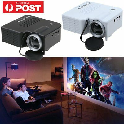 Mini Portable LED Projector 1080P Multimedia Home Cinema Theater USB TF AV HDMI~