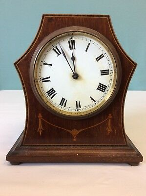 BUREN SWISS MADE WOODEN MANTLE CLOCK NEEDS REPAIRING (ref 7)