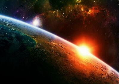 Stunning Earth From Space Wall Art Poster - A4 A3 A2 Sizes
