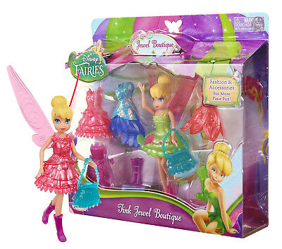 """Disney Fairies: Tink Jewel Boutique 4.5"""" Doll & Accessories New in Package"""