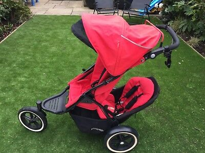 Phil Teds Sport Double Seat Buggy With Auto Stop Brake
