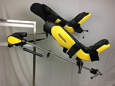 Allen Yellofin Elite Lithotomy Stirrups (Yellowfin) w/ pads and clamps