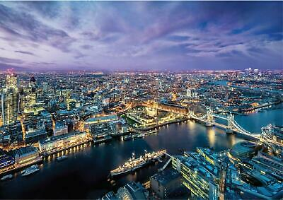 London At Night Skyline Landscape Giant Poster - A5 A4 A3 A2 A1 A0 Sizes